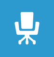 Office chair icon white on the blue background vector image