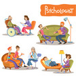 psychologist private practice cartoon set vector image