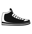 sneakers icon simple vector image