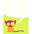 toy cat vector image