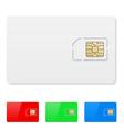 Blank SIM card vector image vector image