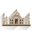 Taj Mahal flat style with long shadow vector image