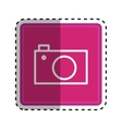 Photographic camera media vector image