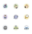 Data protection icons set pop-art style vector image