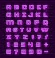 neon font city neon purple font english city vector image