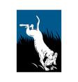 retriever dog retrieving a bird fowl vector image vector image