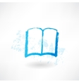 Open book grunge icon vector image vector image