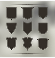 Set of nine different forms of shields vector image