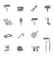 Painting icons black vector image