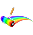 rainbow painting vector image