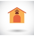 Kennel flat icon vector image