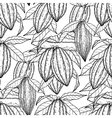 Graphic cocoa fruits pattern vector image