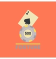 flat icon on stylish background Fortune chip card vector image vector image