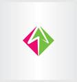 arrow logo sign element symbol vector image