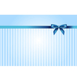blue background with bow vector image