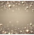 Christmas golden starry background vector image