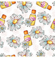 daisy flower seamless pattern spa cosmetics vector image