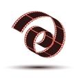 film stripe curl vector image