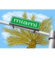 miami south beach vector image
