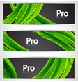 nature wave banners vector image
