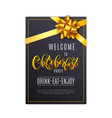 oktoberfest letterin black holiday poster with vector image