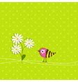 scrapbook bird card template vector image vector image