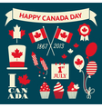 Canada Day Design Elements Collection vector image