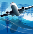 plane modern background vector image vector image