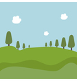 landscape with trees and fields vector image
