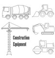 a set of design elements for construction five vector image