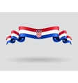 Croatian wavy flag vector image