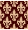 Fleur-de-lis seamless pattern with curly leaves vector image