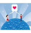Online love vector image