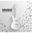 paper electro guitar background concept tam vector image