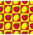 Seamless Pattern with Red Apples and Yellow Lemons vector image