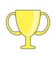 Isolated trophy cup design vector image