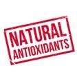 Natural antioxidants stamp vector image
