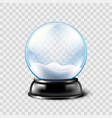 christmas snow globe isolated vector image