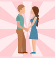 people happy love couple cartoon relationship vector image