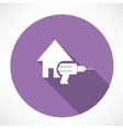 house and drill icon vector image vector image