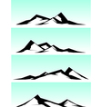 mountain ridge in black and white on blue vector image