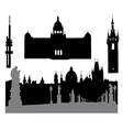 Prague silhouette vector image vector image