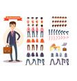businessman cartoon personage generator vector image