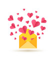 happy valentines day card with open vector image