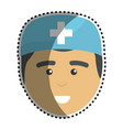 medical man doctor with surgical cap vector image