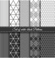 Set of black white Pattern2 vector image