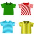 Set of Boys shirts vector image