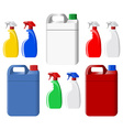 Set of spray bottles and canisters vector image