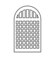 silhouette of building window icon vector image