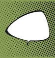 triangular speech bubble vector image